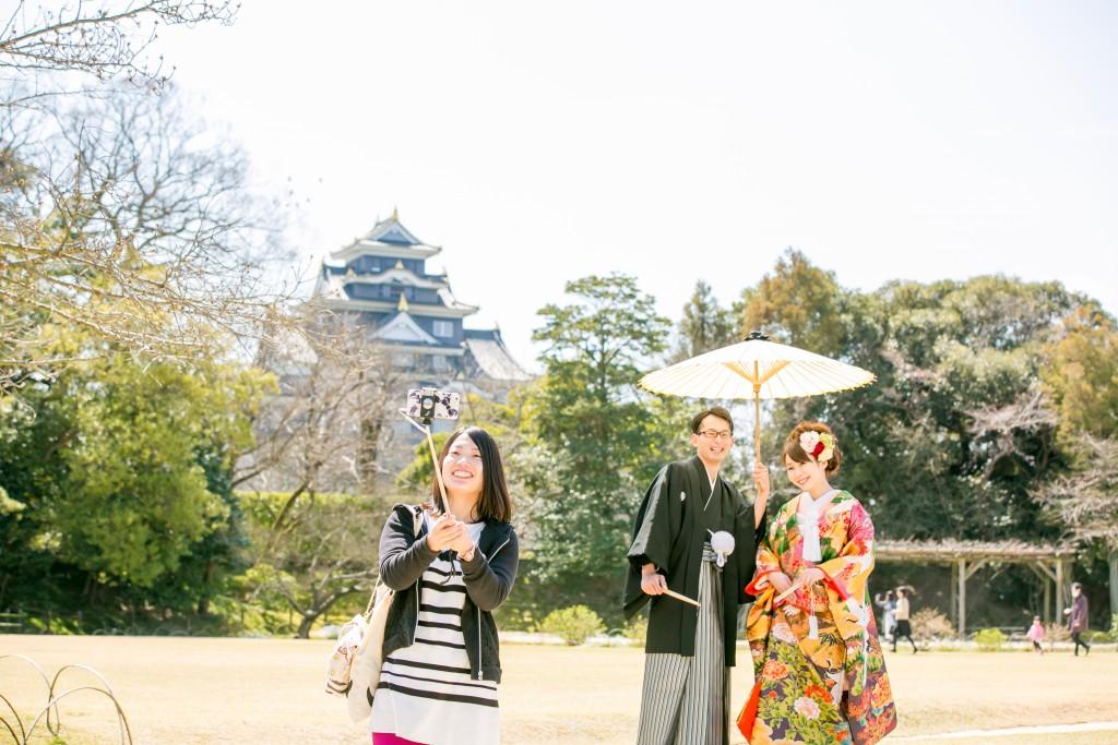 岡山倉敷で前撮り別撮りならNEMURAFILMS後楽園和装前撮り