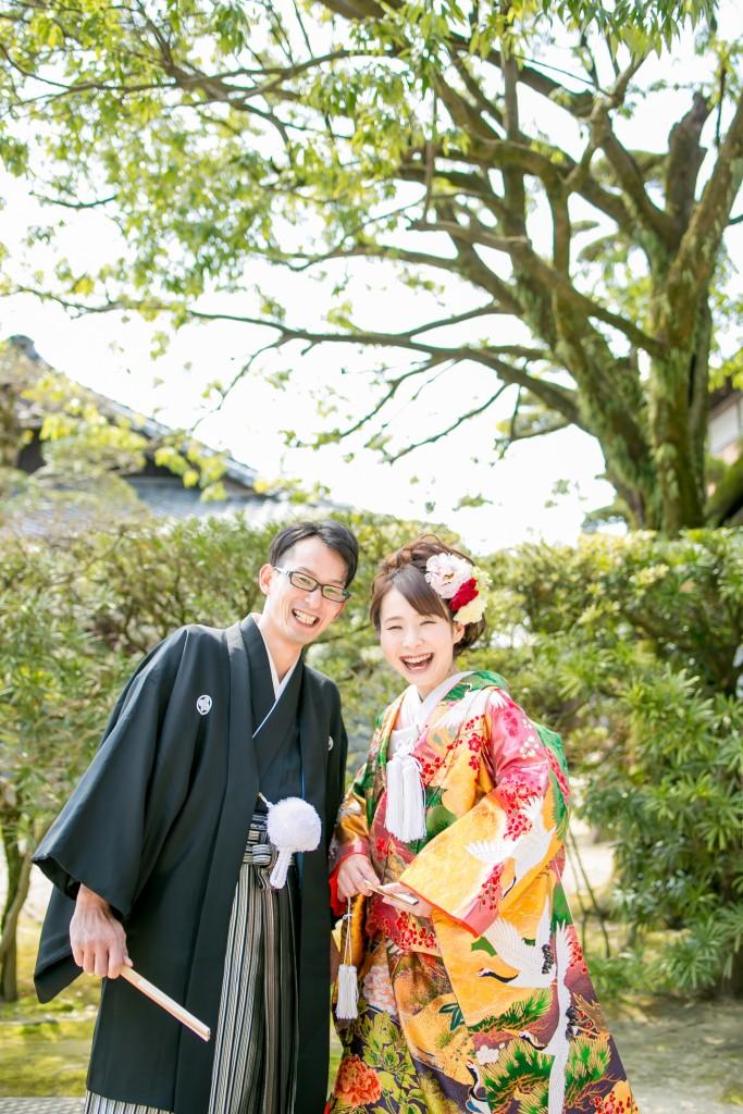 岡山倉敷で前撮り別撮りならNEMURAFILMS後楽園和装前撮り新緑