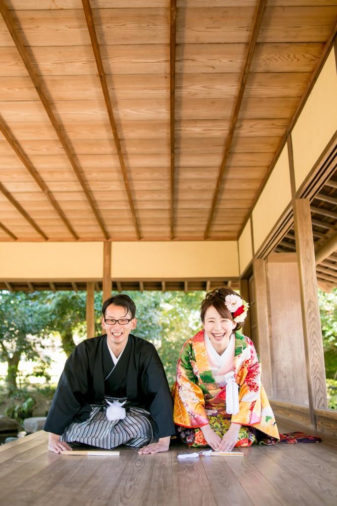 岡山倉敷で前撮り別撮りならNEMURAFILMS後楽園和装前撮りお辞儀年賀状