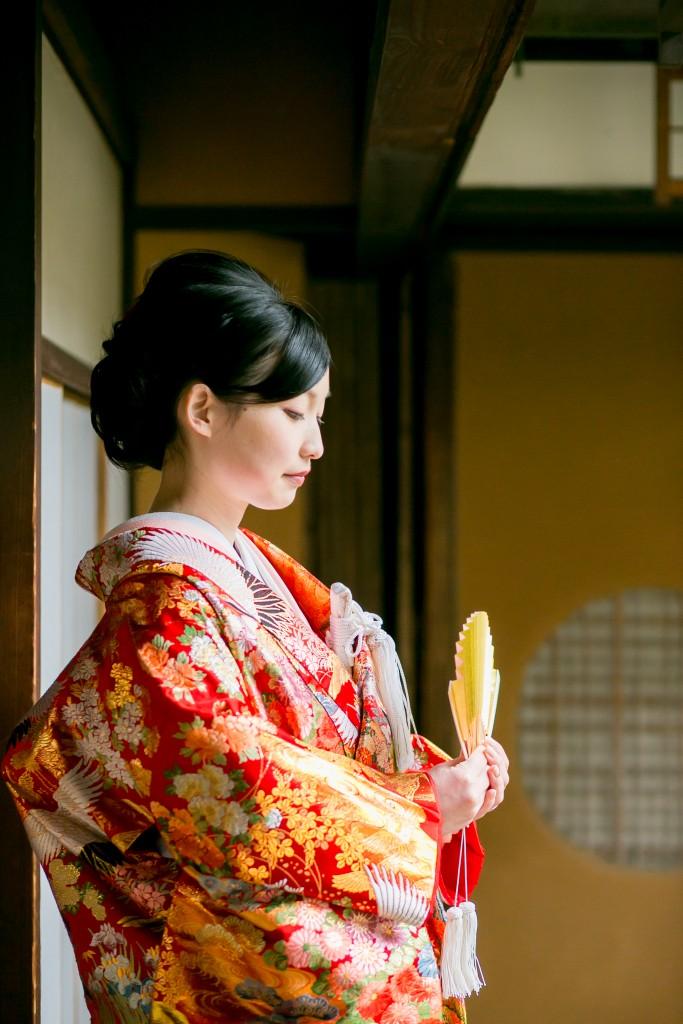 岡山倉敷で前撮り別撮りならNEMURAFILMS倉敷大橋家和装前撮り新婦ソロ