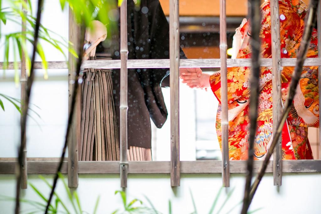 岡山倉敷で前撮り別撮りならNEMURAFILMS倉敷大橋家和装前撮り手繋ぎ
