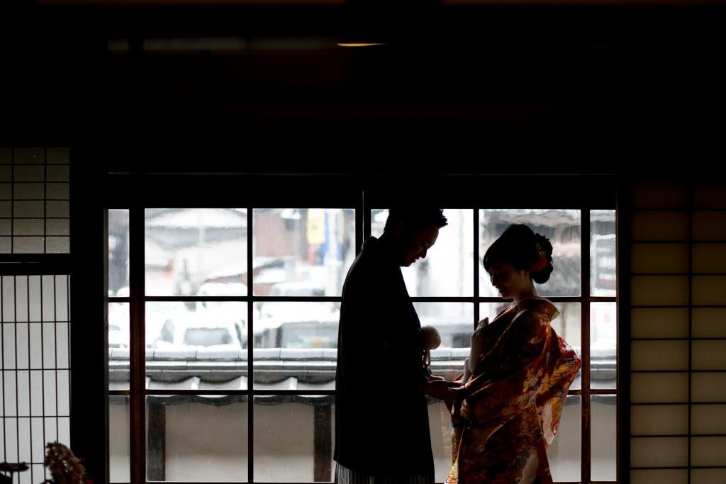 岡山倉敷で前撮り別撮りならNEMURAFILMS倉敷大橋家和装前撮りシルエット引き