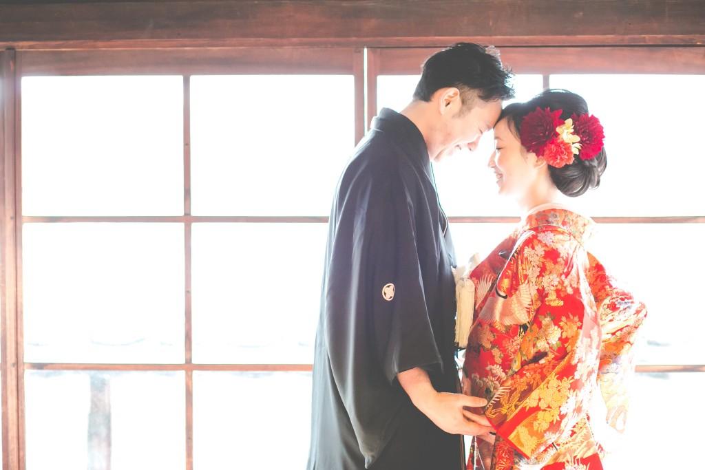 岡山倉敷で前撮り別撮りならNEMURAFILMS倉敷大橋家和装前撮り外光