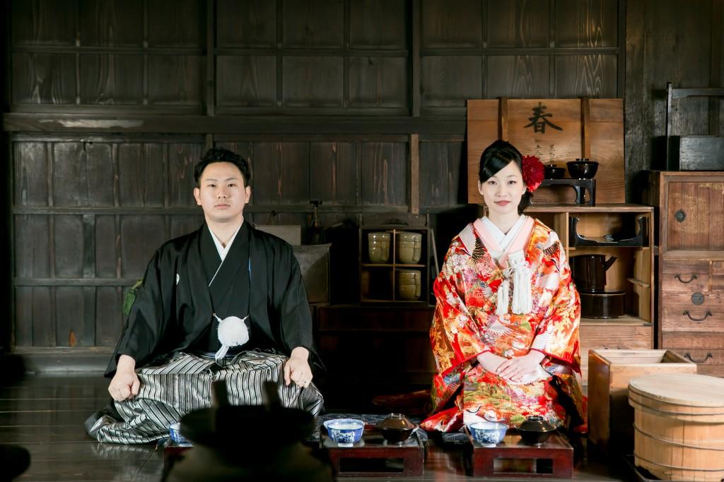 岡山倉敷で前撮り別撮りならNEMURAFILMS倉敷大橋家和装前撮り食卓