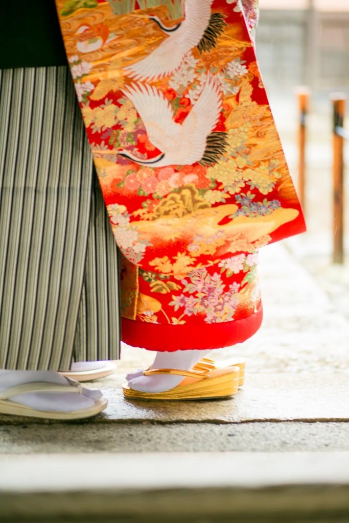 岡山倉敷で前撮り別撮りならNEMURAFILMS倉敷大橋家和装前撮り足元