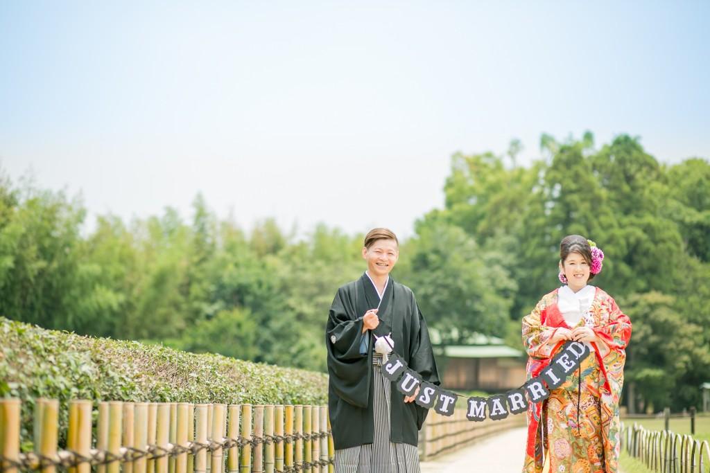 岡山後楽園和装前撮りカップルフォトプロップス2016/07/11