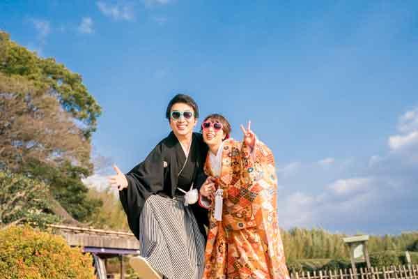 結婚式の前撮りを岡山や倉敷でするならネムラフィルムズ。しかも格安。桜前撮り受付中晴れの岡山後楽園2019夏と新緑おすすめポーズ6月の写真倉敷美観地区衣装26追加72aaa1-7