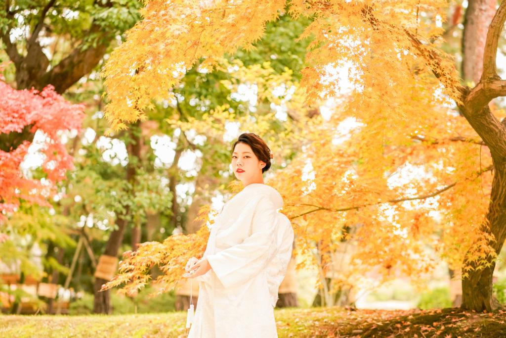 岡山前撮りネムラフィルムズお得で人気な紅葉前撮り受付中!写真が苦手な新郎新婦様カップル様へ