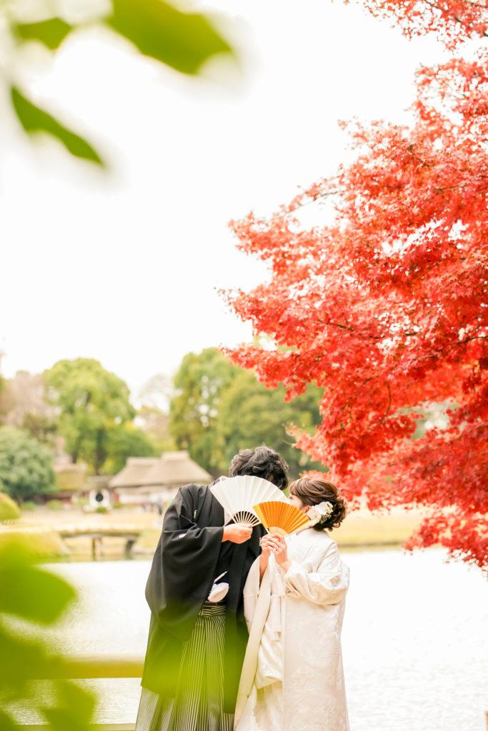 岡山前撮りネムラフィルムズお得で人気な紅葉前撮り受付中!写真が苦手な新郎新婦様カップル様へポイントと注意点11