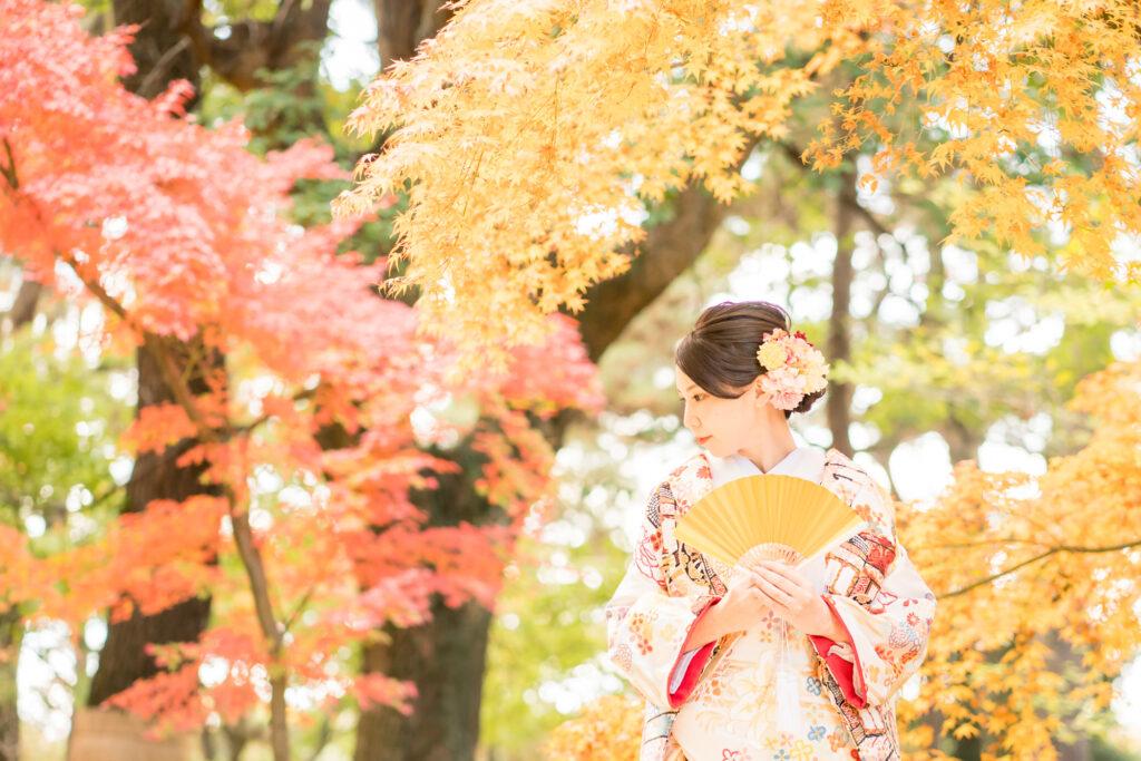 前撮り岡山フォトウエディング和装ロケ後楽園倉敷美観地区お得な桜前撮りキャンペーン和装2点でアルバムプレゼント料金アップなし2021年も岡山での前撮りはネムラフィルムズ衣装36maedoriinokayama3467891021